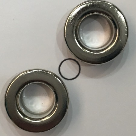 Люверс плоский 8мм №22 нержавейка никель (1000 штук)