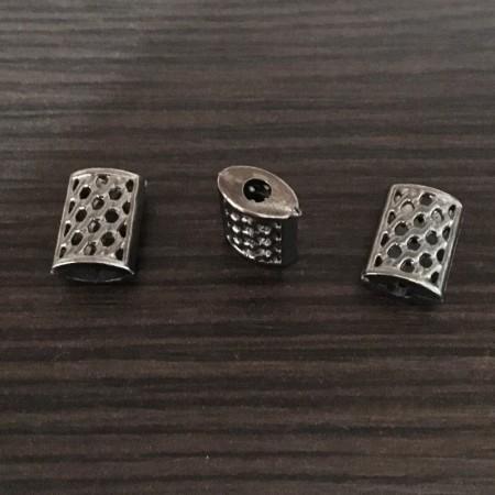 Наконечник для шнура под металл №4001 темный никель (1000 штук)