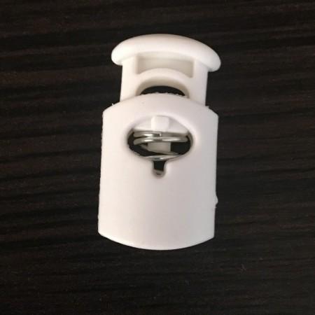 Фиксатор пластик сопилка на 1 отверстие К13 белый (1000 штук)