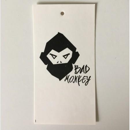 Этикетка картонная 5х10см Bad Mankey заказная (1000 штук)