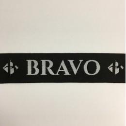 Резинка с логотипом Bravo 40мм (заказная) (метр )