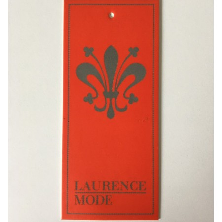Этикетка картонная 5,5х12,5см Laurence заказная (Штука)