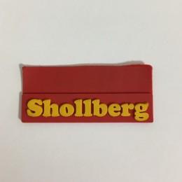 Этикетка силиконовая (изготовление) Shollberg красная 10мм х 45мм (Штука)