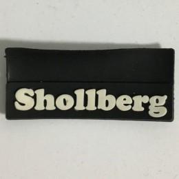 Этикетка силиконовая (изготовление) Shollberg черная 10мм х 45мм (Штука)