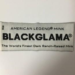 Этикетка жаккардовая вышитая Blackglama 40мм заказная (1000 штук)