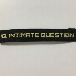 Этикетка жаккардовая вышитая Intimate Question 7мм заказная (1000 штук)