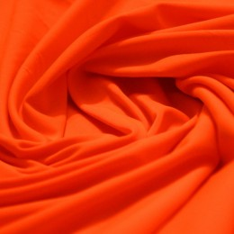 Ткань трикотаж микромасло однотоное оранженый (метр )