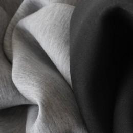 Ткань трикотаж неопрен чёрный меланж (метр )