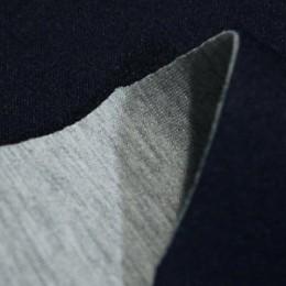 Ткань трикотаж неопрен темно-синий меланж (метр )