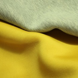 Ткань трикотаж неопрен желтый меланж (метр )