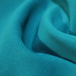 Ткань трикотаж оттоман голубая бирюза (метр )