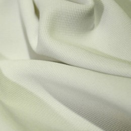 Ткань трикотаж оттоман молочный (метр )