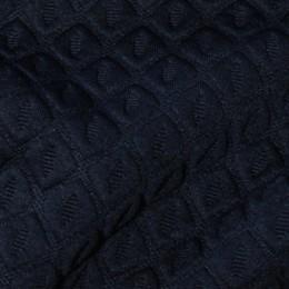 Ткань трикотаж стеганный ромб темно-синий (метр )