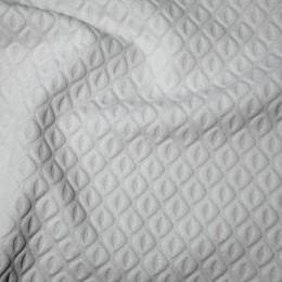 Ткань трикотаж стеганный ромб белый (метр )