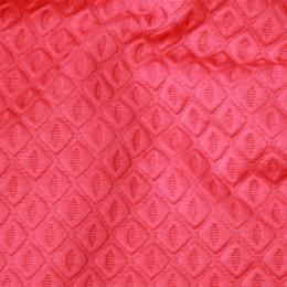 Ткань трикотаж стеганный ромб коралловый (метр )