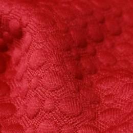 Ткань трикотаж стеганный красный (метр )