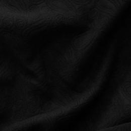 Ткань трикотаж стеганный огурцы черный (метр )