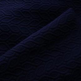 Ткань трикотаж стеганный косичка темно-синий (метр )