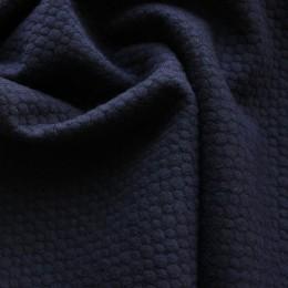 Ткань трикотаж стеганный мелкий ромб темно-синий (метр )