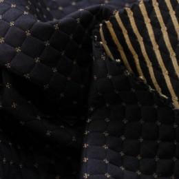 Ткань трикотаж стеганный ромб зара темно-синий (метр )