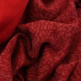 Ткань трикотаж софт меланж красный (метр )