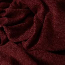 Ткань трикотаж софт меланж бордовый (метр )