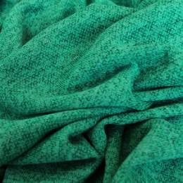 Ткань трикотаж софт меланж бирюза (метр )