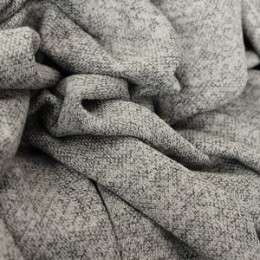 Ткань трикотаж софт меланж светло-серый (метр )