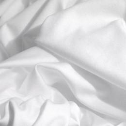 Ткань трикотаж французский белый (метр )