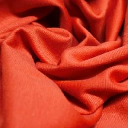 Ткань трикотаж французский терракотовый (метр )