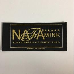 Этикетка жаккардовая вышитая Nafa 50мм заказная (1000 штук)