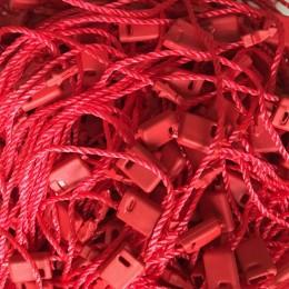 Крепеж-пломба для этикеток шнур красная (1000 штук)