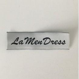 Этикетка жаккардовая вышитая La Men Dress 15мм заказная (1000 штук)