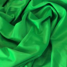 Ткань атлас коттон зеленый (метр )