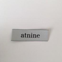 Этикетка жаккардовая вышитая Atnine 20мм заказная (1000 штук)