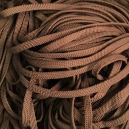 Шнур плоский чехол ПЭ40 10мм белорусский коричневый (100 метров)
