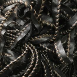 Кант матовый кожезаменитель обшитый коричневой ниткой (метр )