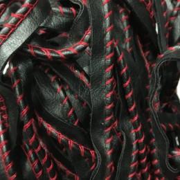 Кант матовый кожезаменитель обшитый красной ниткой (метр )