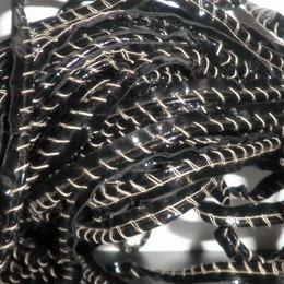Кант лаковый кожезаменитель обшитый коричневой ниткой (30 метров)