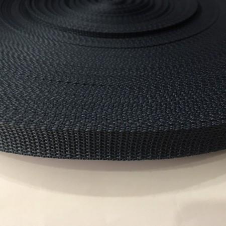 Тесьма-лента ременная 20мм синий светлый (100 метров)