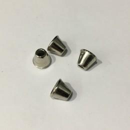 Наконечник для шнура металл никель 8х9х4мм (1000 штук)