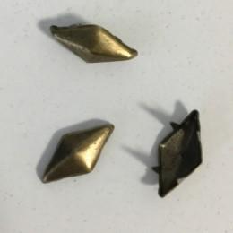 Украшение металлическое крабик ромб антик 15х7мм (Штука)