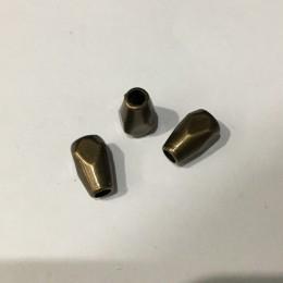Наконечник для шнура под металл антик 11х4х3мм (Штука)