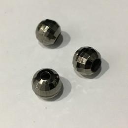 Наконечник для шнура под металл шарик темный никель 8мм (Штука)