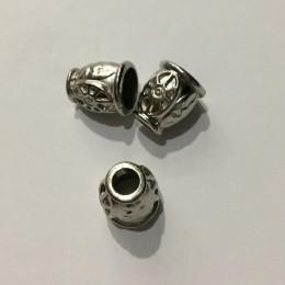 Наконечник для шнура под металл AB 17 ажурный никель (1000 штук)