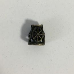 Наконечник для шнура металл ажурный антик 10х5х3мм (Штука)