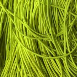 Резинка шнур производство 2,5см салатовый неон (50 метров)