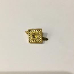 Украшение металлическое крабик квадрат 10х10мм золото (Штука)