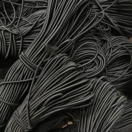 Резинка шнур производство 2,5см черный  (50 метров)
