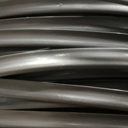Кант пластиковый для сумок (кедер) 6мм серебро (100 метров)